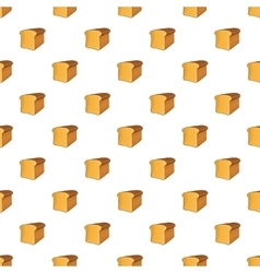 Bread pattern cartoon style vector