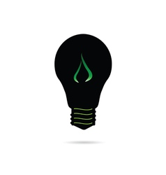 bulb with green plant vector image vector image