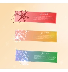 Collection of Christmas banners vector image