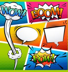 comic sound effect speech bubble pop art cartoon vector image