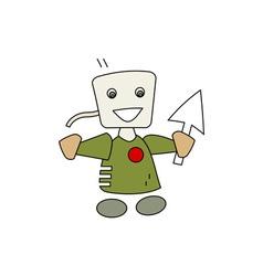 Computer-Man-Fictional-380x400 vector image vector image