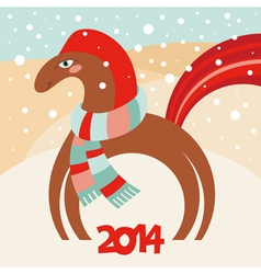 cute horse 2014 vector image vector image