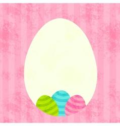 Easter egg frame vector image