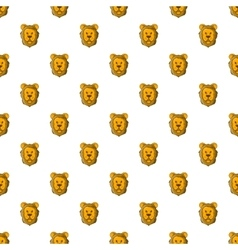 Face of lion pattern cartoon style vector
