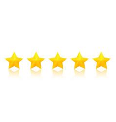Five golden stars vector