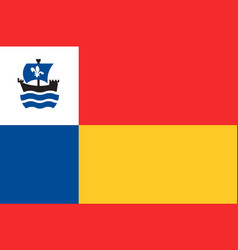 flag of almere of netherlands vector image vector image