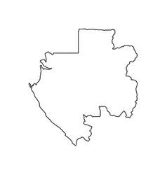 Gabonese republic map vector