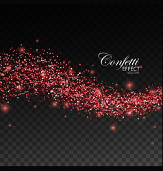 glittering red stream of sparkles vector image vector image