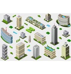 Isometric Megalopolis Building Set vector image
