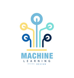 Original logo of machine learning computer vector
