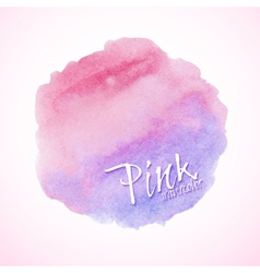 Pink watercolor design element vector image