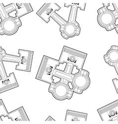piston seamless vector image