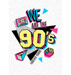Poster in 80s-90s memphis style vector