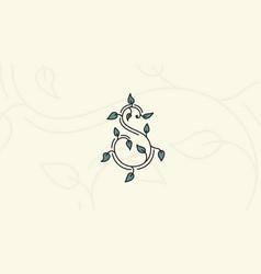 S logo organic vector