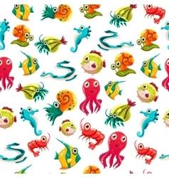 Seamless ocean marine theme vector image