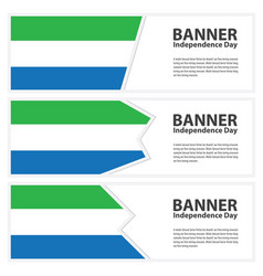 Sierra leone flag banners collection independence vector