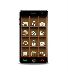 Smartphone and applications icon vector