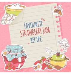 Strawberry jam poster vector