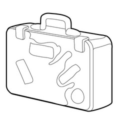 Suitcase icon outline vector