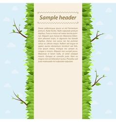 Summer background with space for text vector image vector image