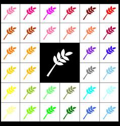 Tree branch sign felt-pen 33 colorful vector