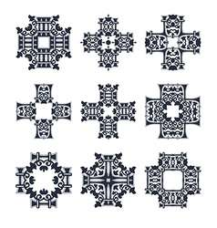 tribal cross set two vector image