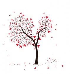 valentine tree vector image