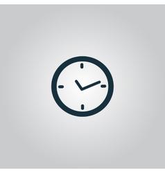 watch flat icon vector image vector image