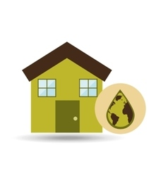 Ecology house icon vector