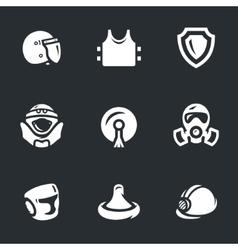 Set of human protection vector image