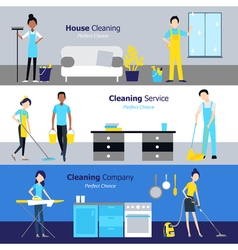 Professional Cleaning Horizontal Banners vector image