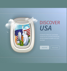 usa porthole background vector image