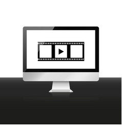 watch movie vector image