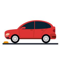 Car coupe parking lot vector