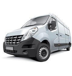 French medium size van vector image