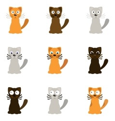 Funny cartoon cats vector image