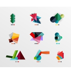 Blank geometric layouts vector