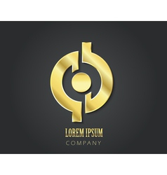 Logo design template golden symbol vector