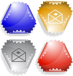 Mail left arrow vector