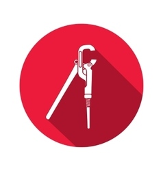 Screw wrench adjustable spanner wrench key icon vector