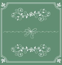 Floral decorative ornament and frame vector