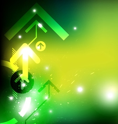 Green arrow abstract design vector