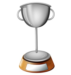 A gray cup trophy vector image vector image