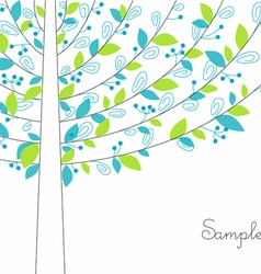 Abstract color tree vector