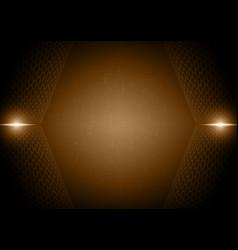 Abstract light ray hexagon technology digital vector