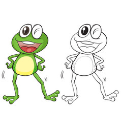 Animal outline for silly frog vector
