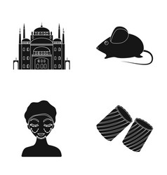 Architecture toy and other web icon in black vector