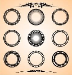 Artistic circle set vector