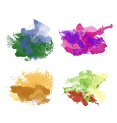 Colorful watercolor backgrounds vector image vector image