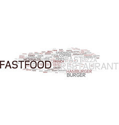 Fastfood word cloud concept vector